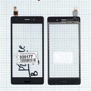 Сенсорное стекло (тачскрин) для Huawei P8 Lite черное, Диагональ 5 фото