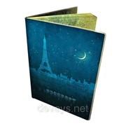 Стильна обкладинка на паспорт Ночь в Париже фото