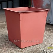 Бак для мусора 0.75м3 Бункер открытого типа 8м3 фото