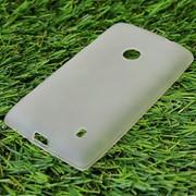 Чехол силиконовый матовый для Nokia lumia 520 белый фото