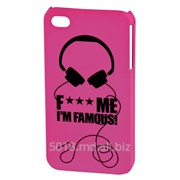 "Hama F*** ME I`M FAMOUS ""Headphone"" для Apple iPhone 4/4S, 115327 фото"