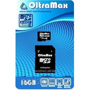 Карта памяти microSD 16 Gb+SD адаптер 6 класс 87227 фото