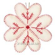 """Набор ВДВ для изготовления игрушки из фетра """"Снежинка белая"""" (Код: ФН-16) фото"""