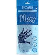 Перчатки хозяйственные латексные универсальные Gloves L синие 1 пара фото