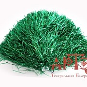 Помпон металлик зеленый фото