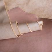Натуральная кожа для кожгалантереи и одежды бежевого цвета арт. СК 2091 фото