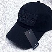 Кепка Stone Island черная с чёрным патчем Shadow Project фото