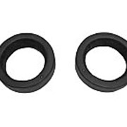 Проставка акусустическая круг ф 16.5 КОЖА черная без накладки фото