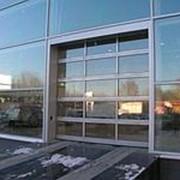 Секционные панорамные ворота серии ISD02 с полным остеклением 2000х2000 фото