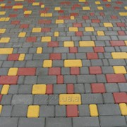 Плитка тротуарная вибропрессованная Старый город. фото