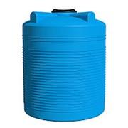 Емкость 1000 литров ЭВЛ, крышка 450мм, вертикальная, цвет голубой фото