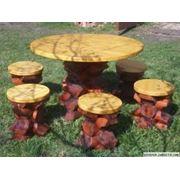 Мебель дачная садовая и парковая из дерева фото