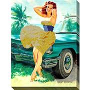 """Набор для вышивки бисером """"Девушка в желтом"""" фото"""
