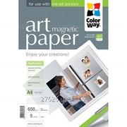 """ColorWay ART глянцевая фотобумага """"магнитная"""" 650гр, А4, 5 листов (PMA650005MA4) фото"""