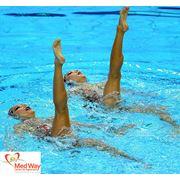 ВОДНАЯ ГИМНАСТИКА- направлена на укрепление мышц спины рук ног и брюшного пресса. фото