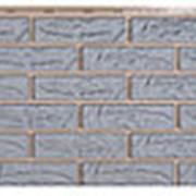 Фасадные панели T-Сайдинг, коллекция «Лондон Брик» серый, 1090х455 фото