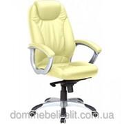 Кресло для руководителя Неон HB кожзам бежевый (J-9024 PU Biege) фото
