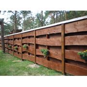 Заборы деревянные декоративные фото