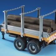 Игрушечный прицеп для транспортировки леса с тремя стволами деревьев 02213 фото