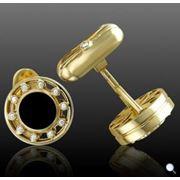 Запонки золотые Запонка золотаяЗапонки золотые в Молдове фото