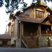 Дома деревянные из клееного бруса фото