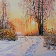 Картина Зимнее солнышко фото