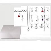 Ювелирный комплект с цепочки и кулонов