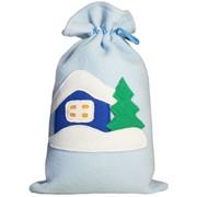 Мешок для подарков из флиса с аппликацией Домик фото