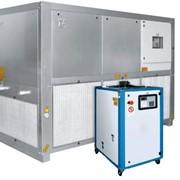 Промышленные охладители жидкости (чиллер, чиллеры, куллер, холодильная установка). Мощность охлаждения 2,2-960 кВт / 1,892-825,600 ккал. Италия. фото