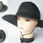 Женская летняя шляпа Alenstar 56-58 размер Черная фото