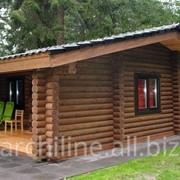 Голландский деревянный дом из бревна 52 м² фото