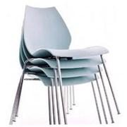 Пластиковый стул ЛИЛИ, штабелируется, белый, серый фото