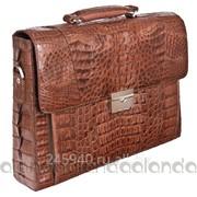 Мужской портфель из кожи крокодила фото