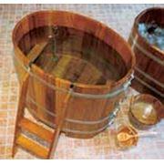 Купели из лиственницы и камбалы для саун и бань. фото