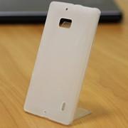 Чехол силиконовый матовый для Nokia lumia 730 белый фото
