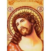 Икона Иисус в терновом венке, Иконы из янтаря фото