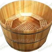 Купель круглая из кедра (100/d250/4 см) фото