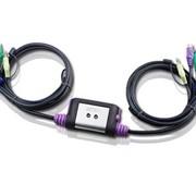 Свитч ATEN KVM-Switch CS62A 2 port (VGA/SVGA+KBD+MOUSE) с KVM-шнурами PS/2 2х1.2м фото
