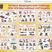 """Стенд СПАС-3 """"Первая медицинская помощь при чрезвычайных ситуациях"""" фото"""