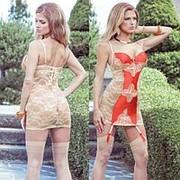 Сорочка с кружевной спинкой и контрастной вставкой SEXY TERRACOTTAS фото