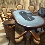 Стол спортивного покера, кресла, столики фото