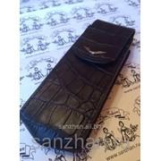 Чехол для Vertu Signature S Design black Alligator натуральная эко-кожа 86564 фото