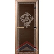 "Дверь стеклянная бронза ""Версаче"" 1,9 х 0,7 м фото"