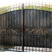 Ворота для дома и дачи кованые мод 06 фото