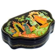 Лаковая миниатюра шкатулка Сказки Палех фото
