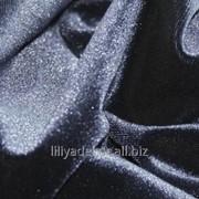 Ткань Бархат черного цвета фото