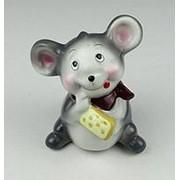 Мышка с сыром копилка керамика 17см 2вида (1) фото