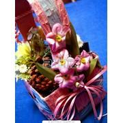 Композиции из искусственных цветов, композиции из искусственной флоры фото