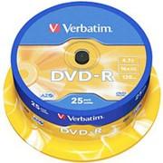 Оптический диск DVD-R 4.7 Гб Verbatim в тубе 25шт. фото