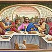 Резные иконы Тайная вечеря, икона, резьба по дереву Высота иконы 25 см фото